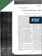Binder Tocopheral Deficiency in Man 313v 1967