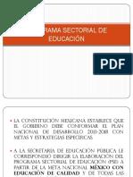 1 Programa Sectorial de Educacion