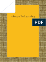 Always Be Learning BLog