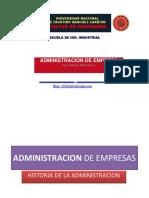 Clase 1. Historia de La Administracion de Empresas
