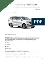 Rental & Sewa Toyota Avanza Harian Murah ☎ 0821 1313 0173 TravelBos.id