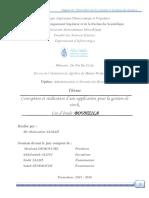 Conception Et Réalisation d'Une Application Pour La Gestion de Stock (1)Cas d'Étude Bouhzila
