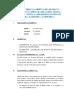 Estudio de Impacto Ambiental Del Proyecto - Resumen