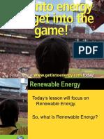 Renewable Energy PPT Teachers