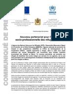 Nouveau partenariat pour l'insertion socio-professionnelle des réfugiés au Maroc