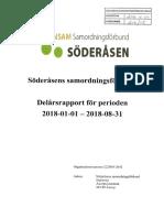 Delårsrapport Söderåsens Samordningsförbund 180101-180831 (Påskriven)
