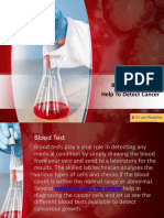 Blood Tests Which Help to Detect Cancer