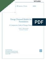 Energy Demand Models