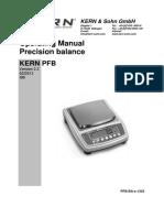 Kern PFB Precision Balance - User Manual