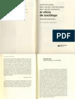 Bourdieu El oficio de sociólogo