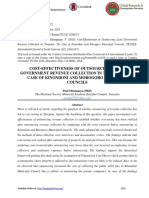 COST-EFFECTIVENESS OF OUTSOURCING LOCAL GOVERNMENT REVENUE COLLECTION IN TANZANIA