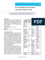 BRAIN TUMOR DETECTION USING SEGMENTATION OF MRI