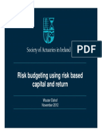Risk budgeting using risk based