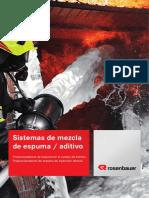 Sistemas de Mezcla de Espuma _ Aditivo. Propocionadores de Espuma en El Cuerpo de Bomba Proporcionadores de Espuma de Inyección Directa