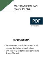 Replikasi, Transkripsi Dan Translasi Dna