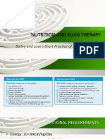 Nutrition and Fluid Therapy