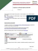 Instructiuni Inregistrare ANAF