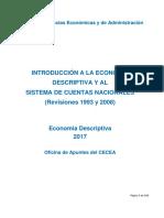 Introducción a La Economía Descriptiva y Al SCN 2017 24 de Julio 2017