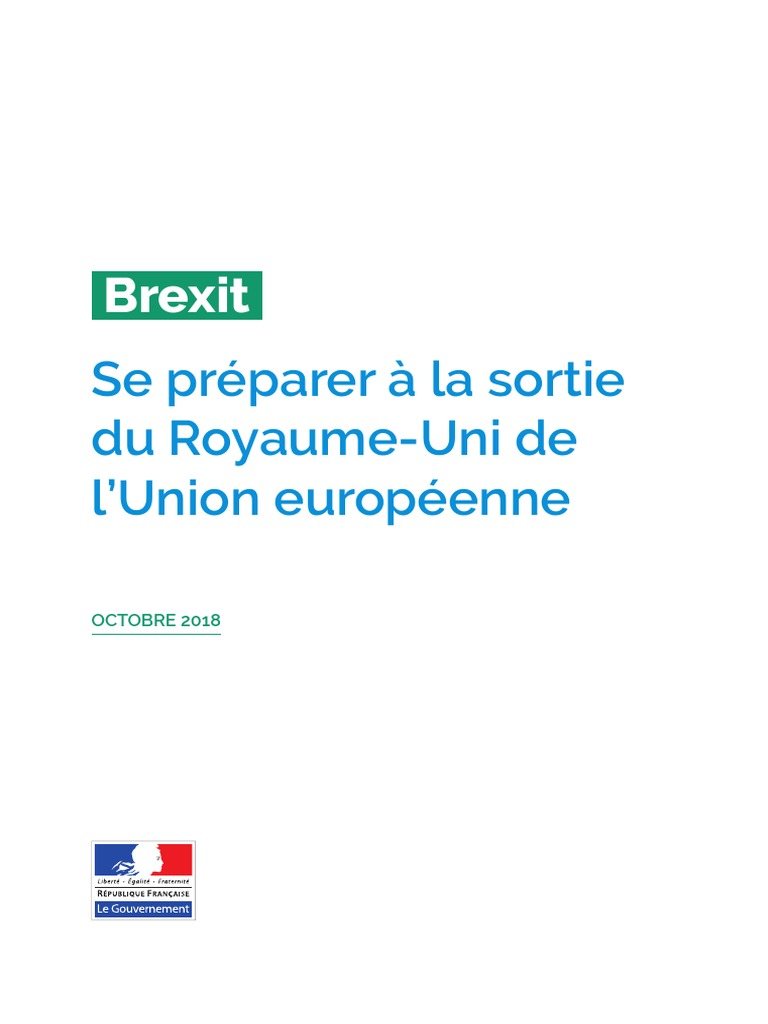 French Treasury Brexit