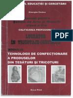 Tehnologii de Confectionare a Produselor Din Tesaturi Si Tricoturi-Gheorghe Ciontea