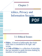 Ethics, Privacy and Information Security