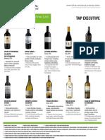 TAP Portugal Wine List