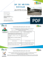Plan de Mejora 2018-2019