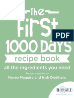 First 1000 Days Recipe Book