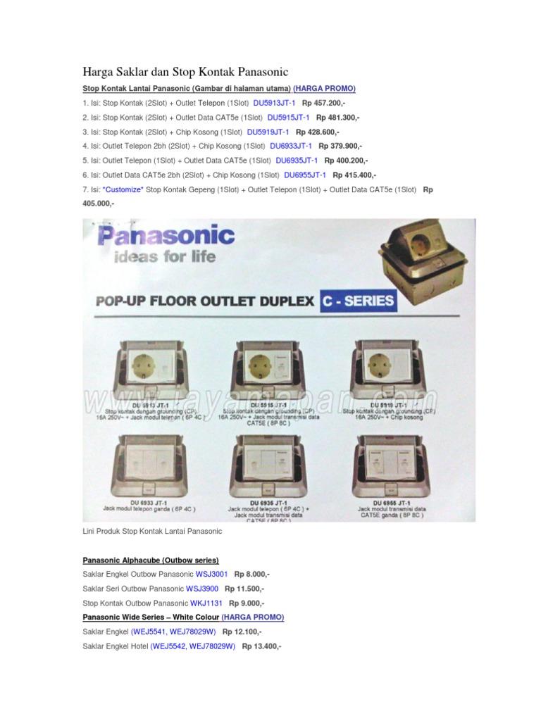 Harga Saklar Dan Stop Kontak Panasonic 1