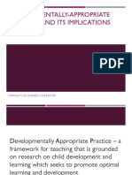 Developmentally Appropriate Practice and Its Implication to K 12 (J. Ramos)