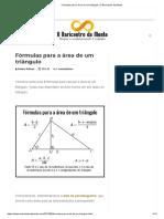 Fórmulas Para a Área de Um Triângulo