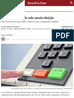 Artigo | Voto Nulo Não Anula Eleição | Brasil de Fato