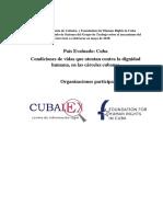 2017 Condiciones de Vida Carcel CUBALEX FHRC