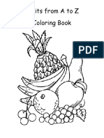 Fruits From a Z Color Book