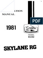 1981 R182 Skylane RG Information Manual Abr Ocr