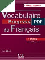 Extrait Vocabulaire Progressif Du Français 2e Édition - Niveau Avancé