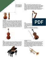 INSTRUMENTOS de CUERDA, Percusion, Viento Autoctonos