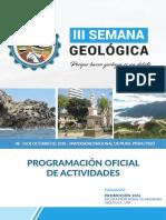 Cronograma Oficial III Semana Geologica