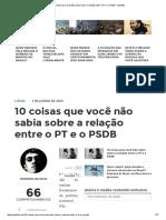 10 Coisas Que Você Não Sabia Sobre a Relação Entre o PT e o PSDB - Spotniks