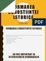 Formarea cunostiintei istorice