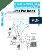 Ficha Las Culturas Del Peru Para Cuarto de Primaria