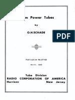 Beam Power Tubes 1938