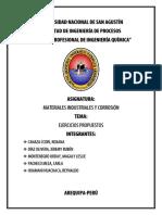 Ejercicios Propuestos - Corrosion