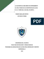 LOS EJERCICIOS DE LA HALTEROFILIA COMO MEDIO DE ENTRENAMIENTO  PARA FORTALECER EL NIVEL TÉCNICO DE LOS DEPORTISTAS DE LUCHA
