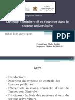 29-01-2015-Contrôle Administratif Et Financier Dans Le Secteur Universitaire
