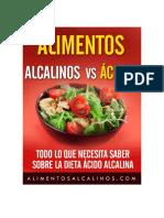 Alimentos alcalinos vs acidos