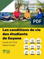 Rapport sur les conditions de Vie des Etudiants de Guyane