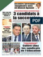 Journal Le Soir Dalgerie Du 21.10.2018
