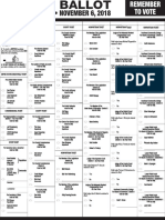 Lancaster County Sample Ballot