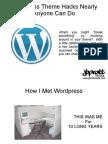 Wordpress Theme Hacks